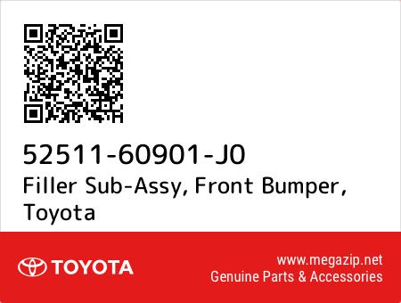 5251160901J0 Toyota Genuine FRONT BUMPER FILLER SUB-ASSY 52511-60901-J0