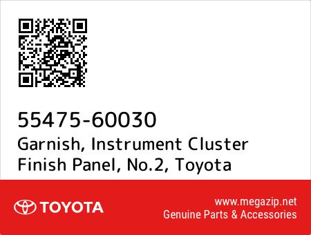INSTRUMENT CLUSTER FINISH PANEL NO.2 5547560030 Genuine Toyota GARNISH