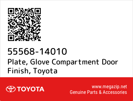 TOYOTA 55568-14010 Glove Compartment Door Finish Plate