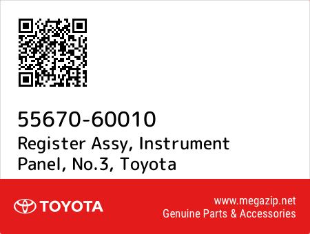 INSTRUMENT PANEL 5567060010 Genuine Toyota REGISTER ASSY NO.3 55670-60010