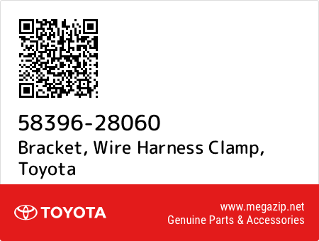 5839628060 58396 28060 bracket, wire harness clamp, toyota oem megazip net