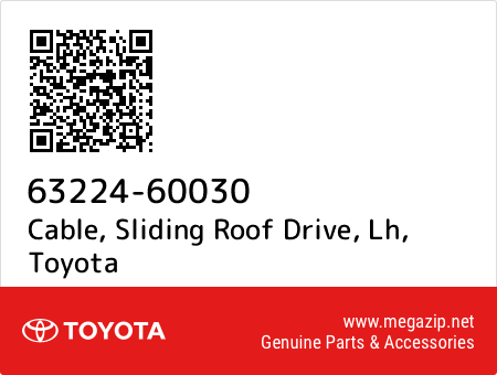 SLIDING ROOF DRIVE LH 63224-60030 Toyota OEM Genuine CABLE