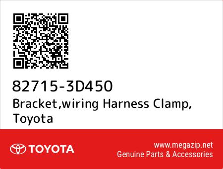 827153D450 82715 3d450 bracket,wiring harness clamp, toyota oem megazip net