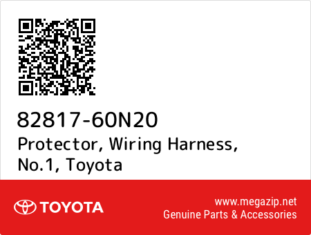 Excellent 82817 60N20 Protector Wiring Harness No 1 Toyota Oem Megazip Net Wiring 101 Taclepimsautoservicenl