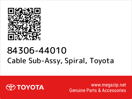 8430644010 Genuine Toyota CABLE SUB-ASSY SPIRAL 84306-44010