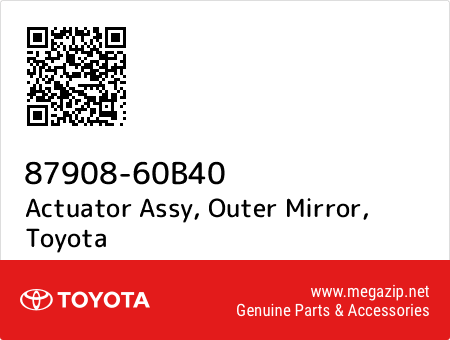 New Genuine OEM Part outer mirror 8790860B40 87908-60B40 Toyota Actuator assy