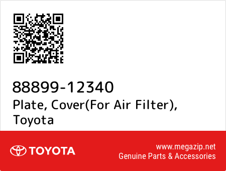 FOR AIR FILTER COVER 88899-12340 8889912340 Genuine Toyota PLATE