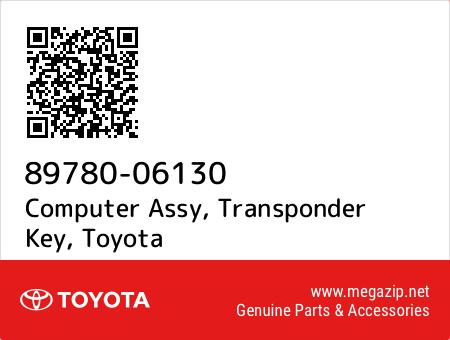 89780-06130 GENUINE OEM TRANSPONDER KEY COMPUTER ASSY 8978006130