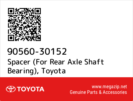 90560-30152 Spacer (For Rear Axle Shaft Bearing), Toyota