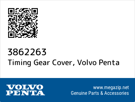 Timing Gear Cover, Volvo Penta 3862263 oem parts