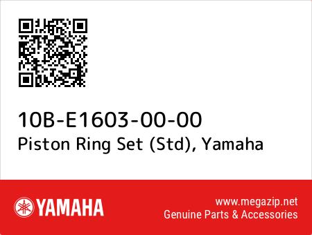 Piston Ring Set (Std), Yamaha 10B-E1603-00-00 oem parts
