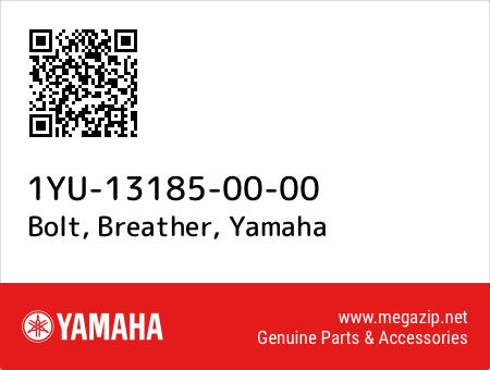 Bolt, Breather, Yamaha 1YU-13185-00-00 oem parts