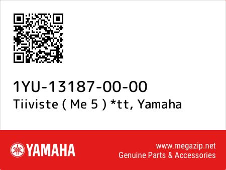 Tiiviste ( Me 5 ) *tt, Yamaha 1YU-13187-00-00 oem parts