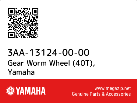 Gear Worm Wheel (40T), Yamaha 3AA-13124-00-00 oem parts