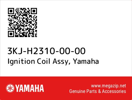 Ignition Coil Assy, Yamaha 3KJ-H2310-00-00 oem parts