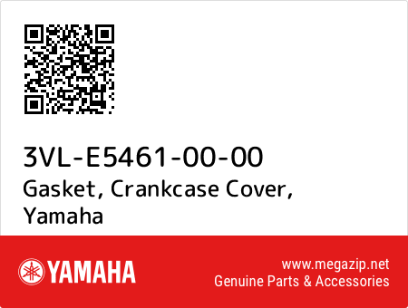 Gasket, Crankcase Cover, Yamaha 3VL-E5461-00-00 oem parts