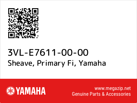 Sheave, Primary Fi, Yamaha 3VL-E7611-00-00 oem parts