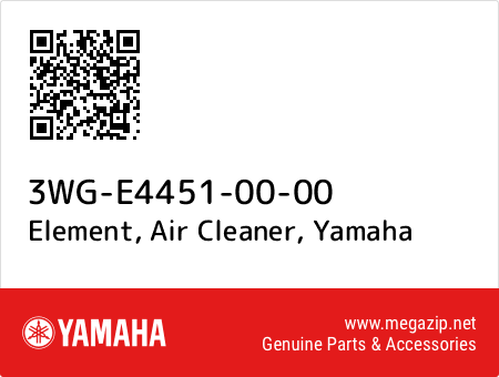 Element, Air Cleaner, Yamaha 3WG-E4451-00-00 oem parts