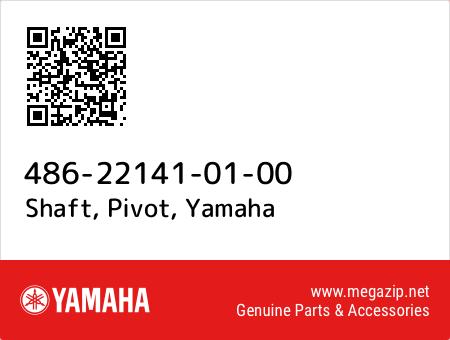 Shaft, Pivot, Yamaha 486-22141-01-00 oem parts