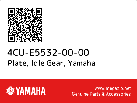 Plate, Idle Gear, Yamaha 4CU-E5532-00-00 oem parts
