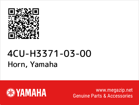 Horn, Yamaha 4CU-H3371-03-00 oem parts