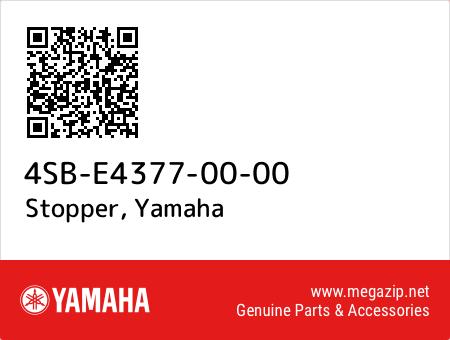 Stopper, Yamaha 4SB-E4377-00-00 oem parts