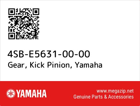 Gear, Kick Pinion, Yamaha 4SB-E5631-00-00 oem parts