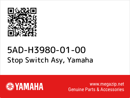 Stop Switch Asy, Yamaha 5AD-H3980-01-00 oem parts