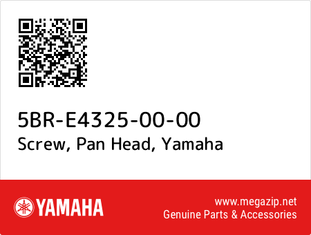 Screw, Pan Head, Yamaha 5BR-E4325-00-00 oem parts