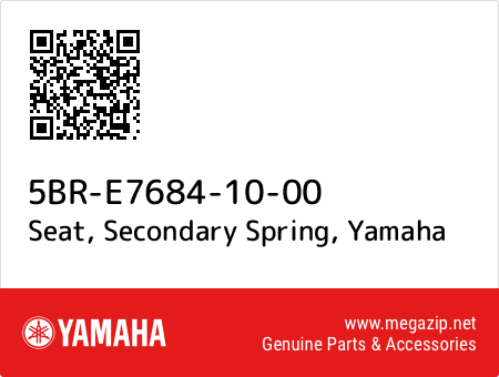 Seat, Secondary Spring, Yamaha 5BR-E7684-10-00 oem parts