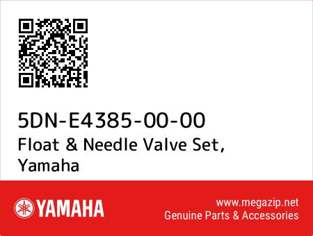 Float & Needle Valve Set, Yamaha 5DN-E4385-00-00 oem parts