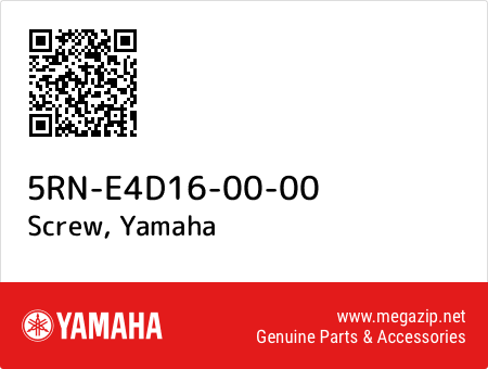 Screw, Yamaha 5RN-E4D16-00-00 oem parts