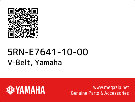 V-Belt, Yamaha 5RN-E7641-10-00 oem parts