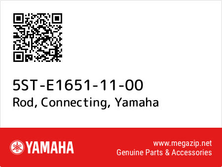 Rod, Connecting, Yamaha 5ST-E1651-11-00 oem parts