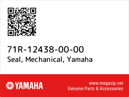 Seal, Mechanical, Yamaha 71R-12438-00-00 oem parts