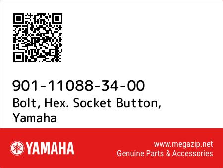 Bolt, Hex. Socket Button, Yamaha 901-11088-34-00 oem parts