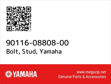Bolt, Stud, Yamaha 90116-08808-00 oem parts