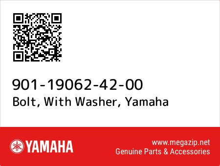 Bolt, With Washer, Yamaha 901-19062-42-00 oem parts