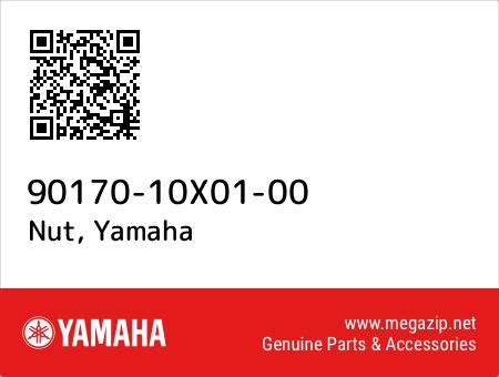 Nut, Yamaha 90170-10X01-00 oem parts
