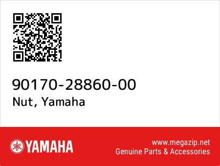 Nut, Yamaha 90170-28860-00 oem parts