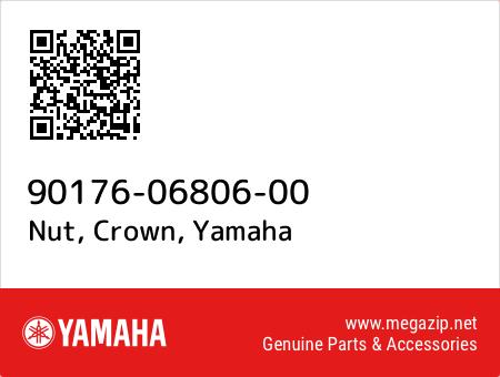 Nut, Crown, Yamaha 90176-06806-00 oem parts