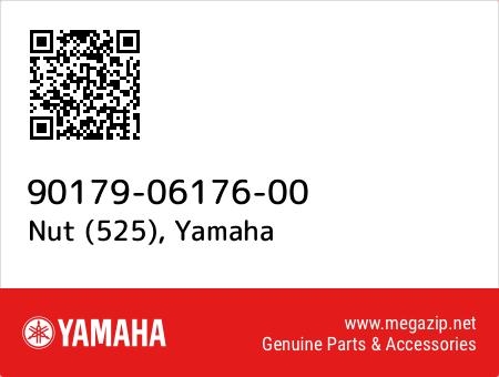 Nut (525), Yamaha 90179-06176-00 oem parts