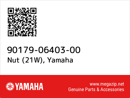 Nut (21W), Yamaha 90179-06403-00 oem parts