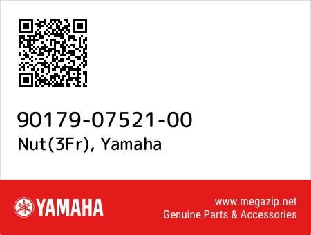 Nut(3Fr), Yamaha 90179-07521-00 oem parts
