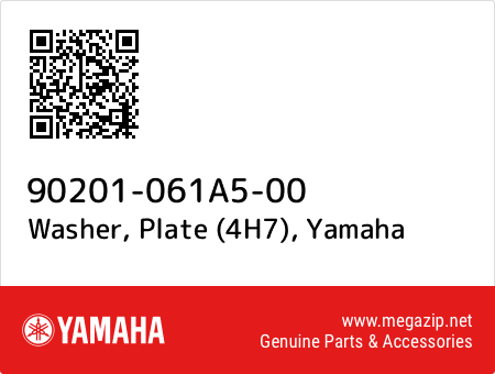 Washer, Plate (4H7), Yamaha 90201-061A5-00 oem parts