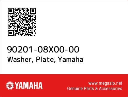 Washer, Plate, Yamaha 90201-08X00-00 oem parts