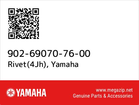Rivet(4Jh), Yamaha 902-69070-76-00 oem parts