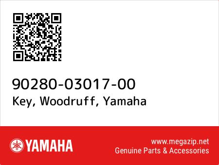 Key, Woodruff, Yamaha 90280-03017-00 oem parts