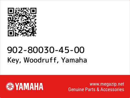 Key, Woodruff, Yamaha 90280-03045-00 oem parts
