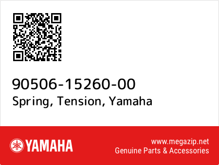 Spring, Tension, Yamaha 90506-15260-00 oem parts